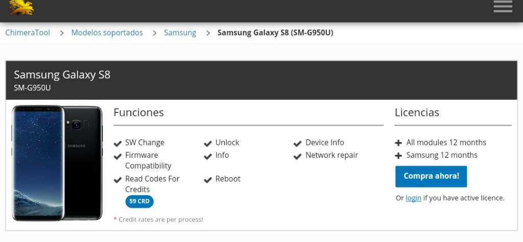 Unlock S8 SM-G950U T-Mobile