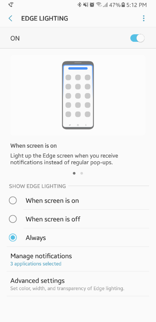 Edge lighting software update - Android Forums at AndroidCentral com
