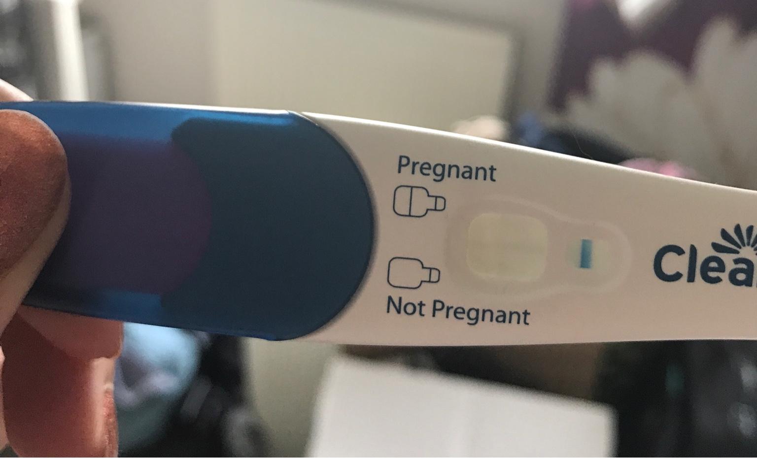 Diagonal Line On Clear Blue Pregnancy Test - Pregnancy Test Work