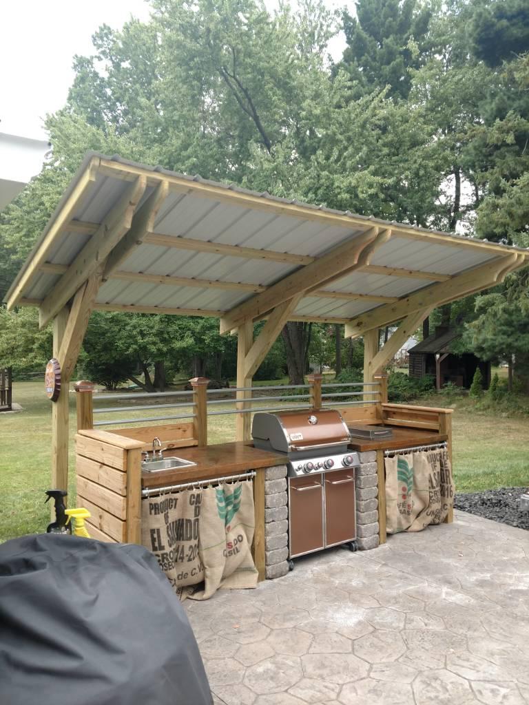 weber genesis outdoor kitchen still in progress. Black Bedroom Furniture Sets. Home Design Ideas