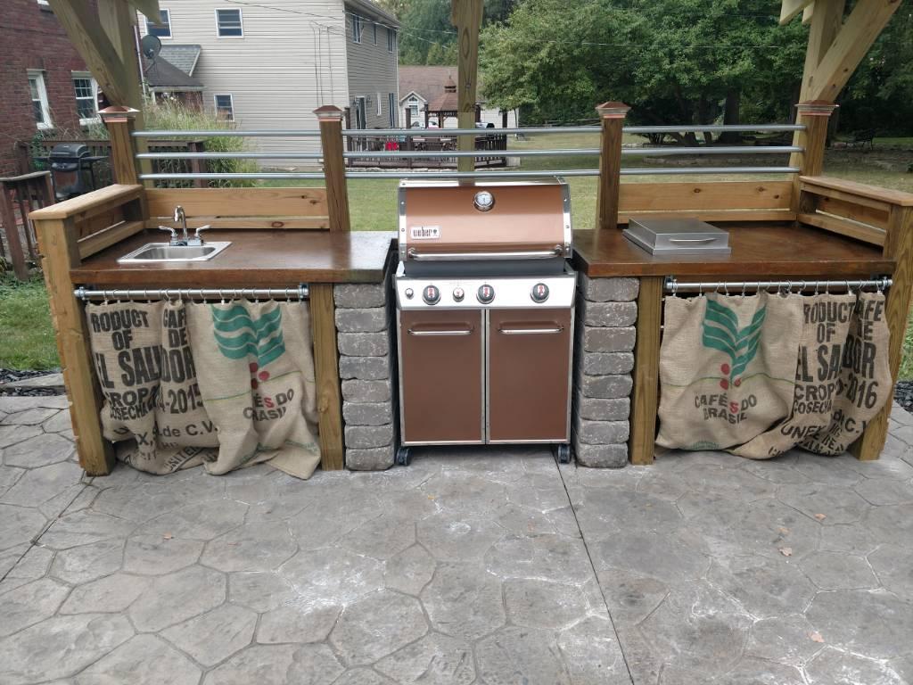 Weber Genesis Outdoor Kitchen Still In Progress
