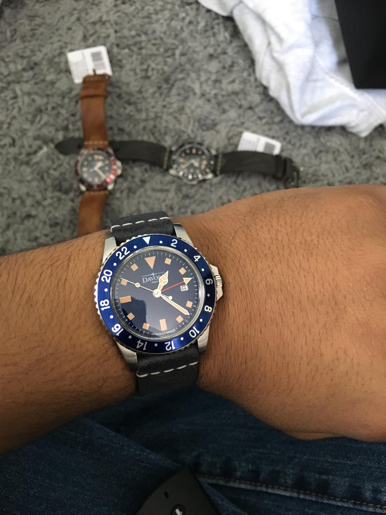 davosa gmt  Davosa Vintage Diver GMT Quartz-experience anyone?