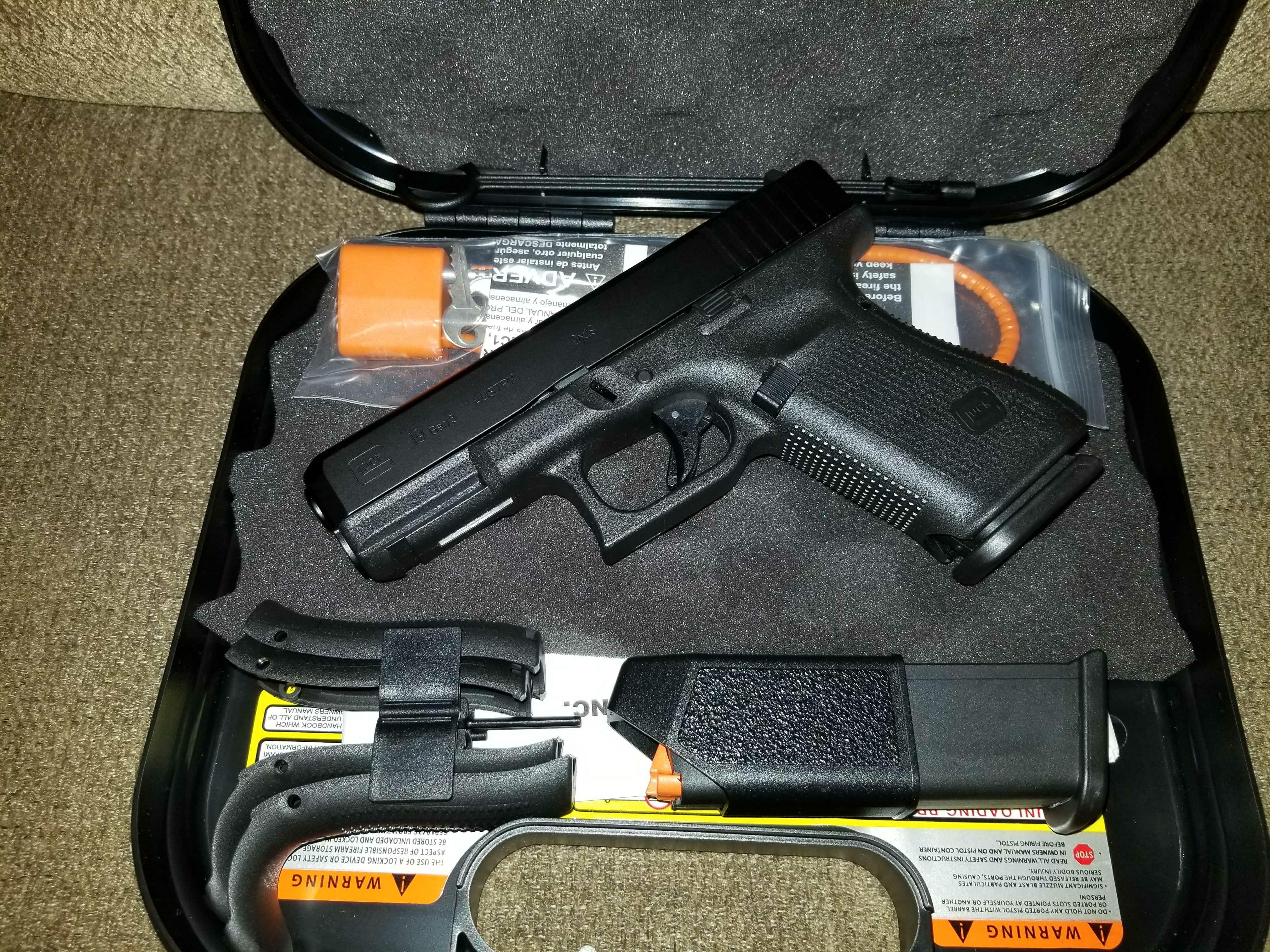 Oklahoma City - BNIB Glock 19 Gen 5 W/Night Sights ...