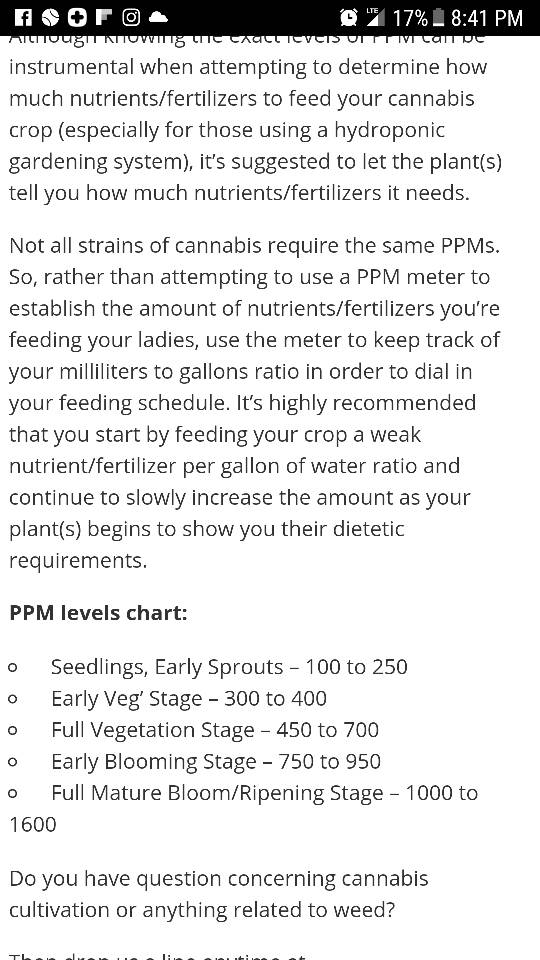 Need help with my PPM's in Advanced Nutrients | Grasscity