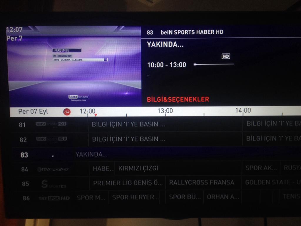 Bein Sports Haber Digitürkte kaçıncı kanalda yer alıyor İşte Bein Sports Haber frekans bilgileri 64
