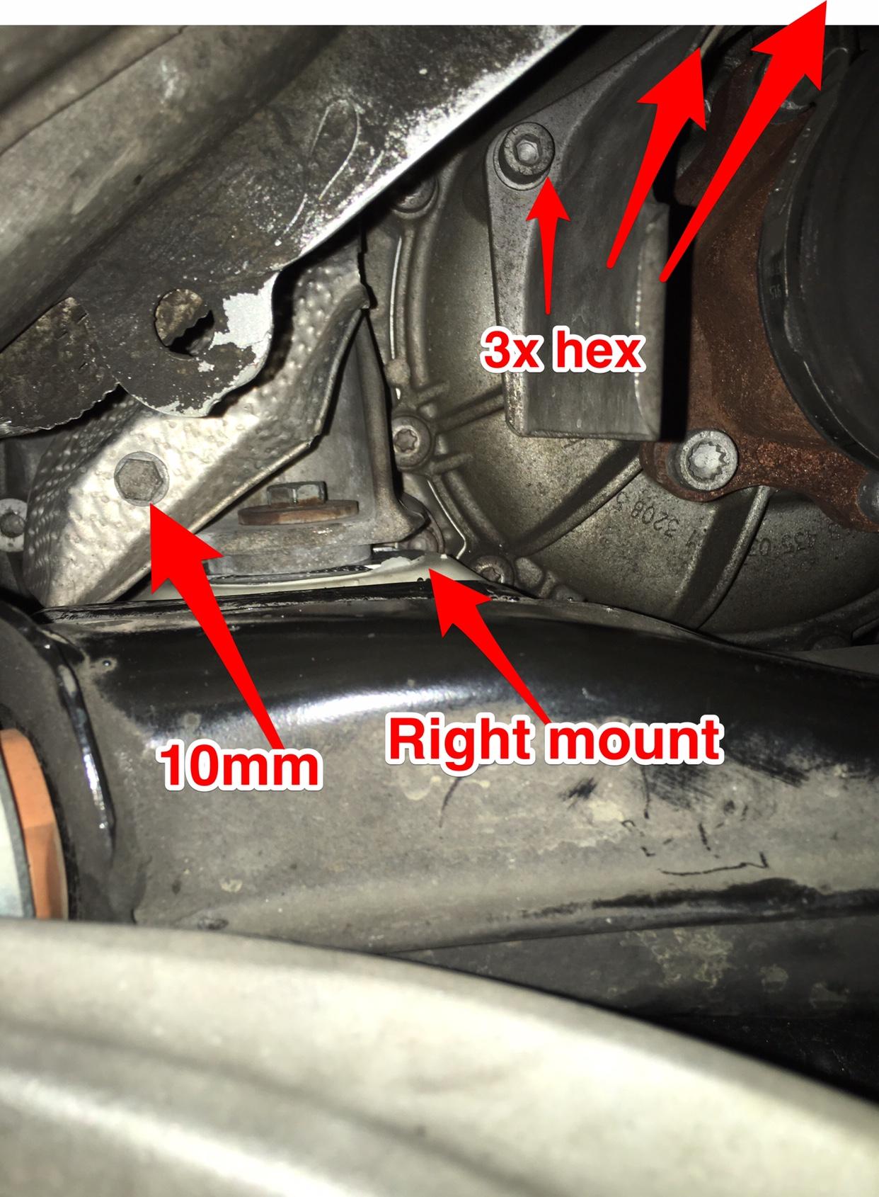 A4 B7 2 0T tiptronic transmission mounts replacement - DIY