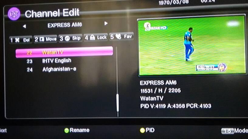 Live 20 20 cricket match between Pak & World 11 is going on Watan HD