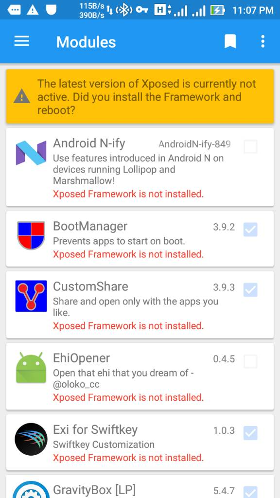 Xposed and modules working, but Xposed Installer shows