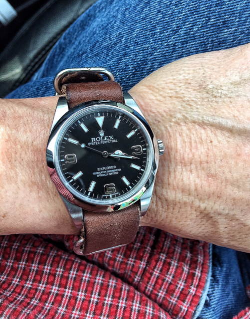 114270 Explorer on leather\u2014did I make a mistake? , Rolex