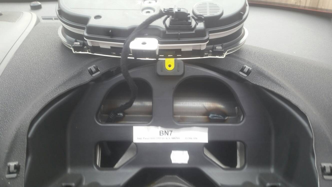 Instrument dash removal