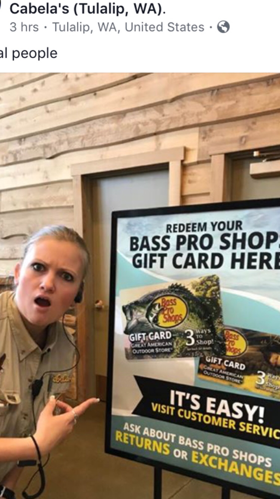 can you use bass pro gift cards at cabelas?