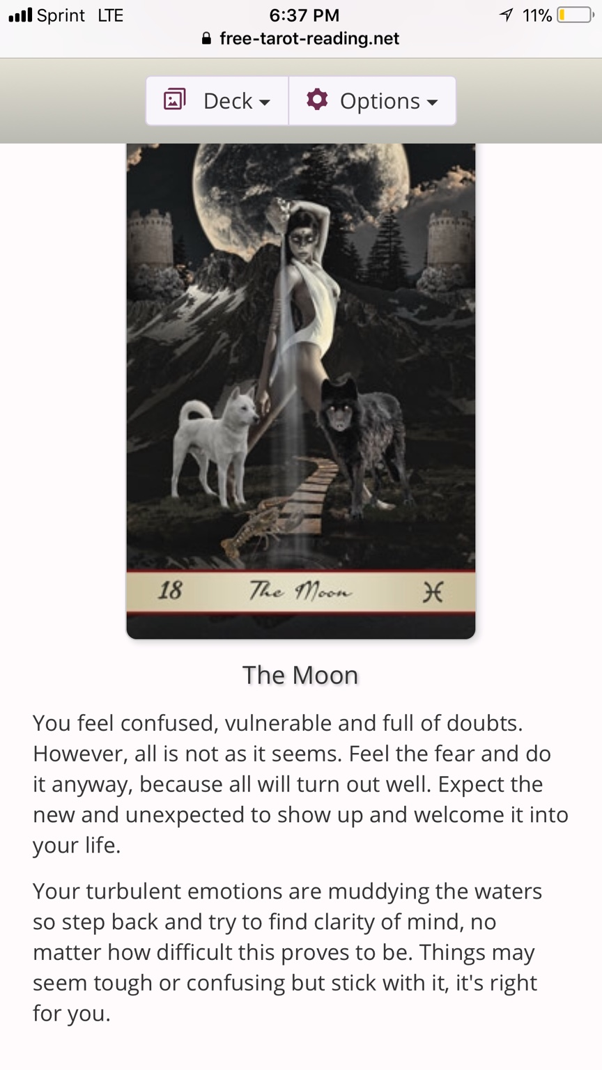 Scary accurate free tarot websites  *MASTER LIST* | Page 2