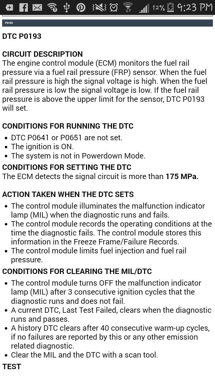 LB7: Lopey Idle - P0193 Code - Duramax Diesels Forum