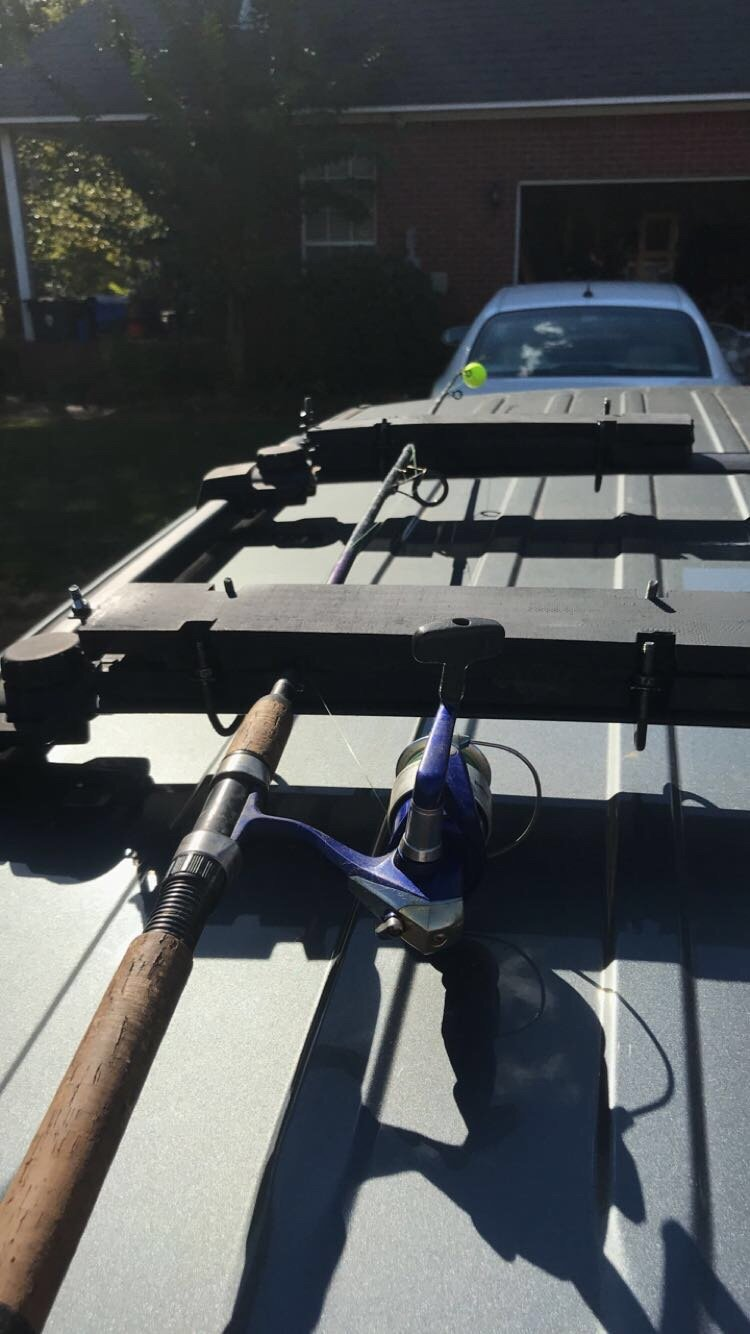 Diy Rack Mounted Fishing Rod Holder Jeep Patriot Forums
