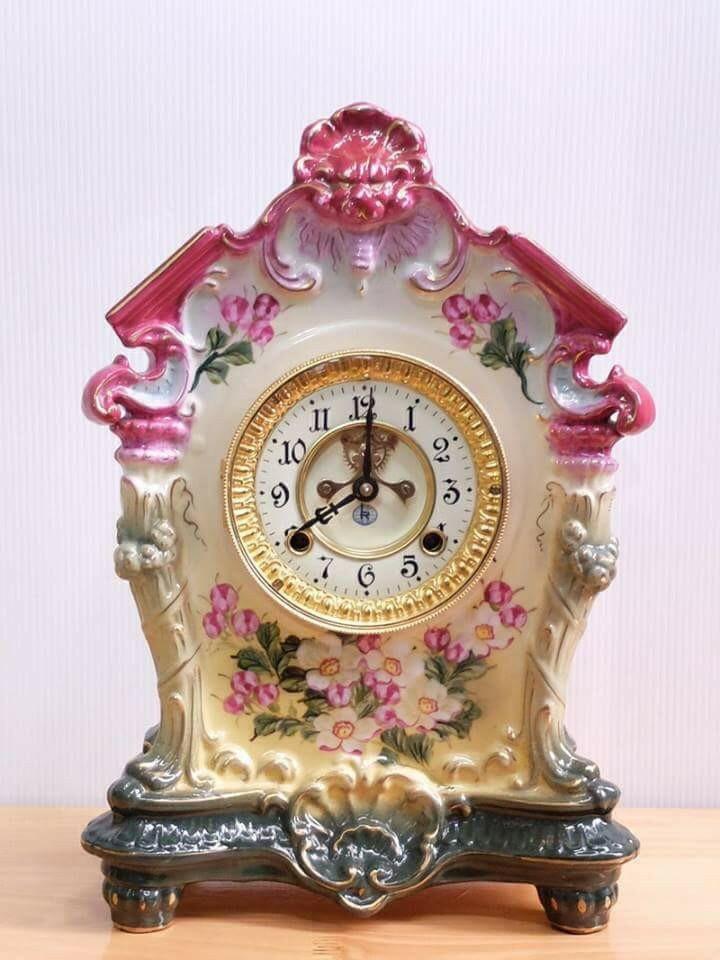 đồng hồ để bản hàng sứ cổ