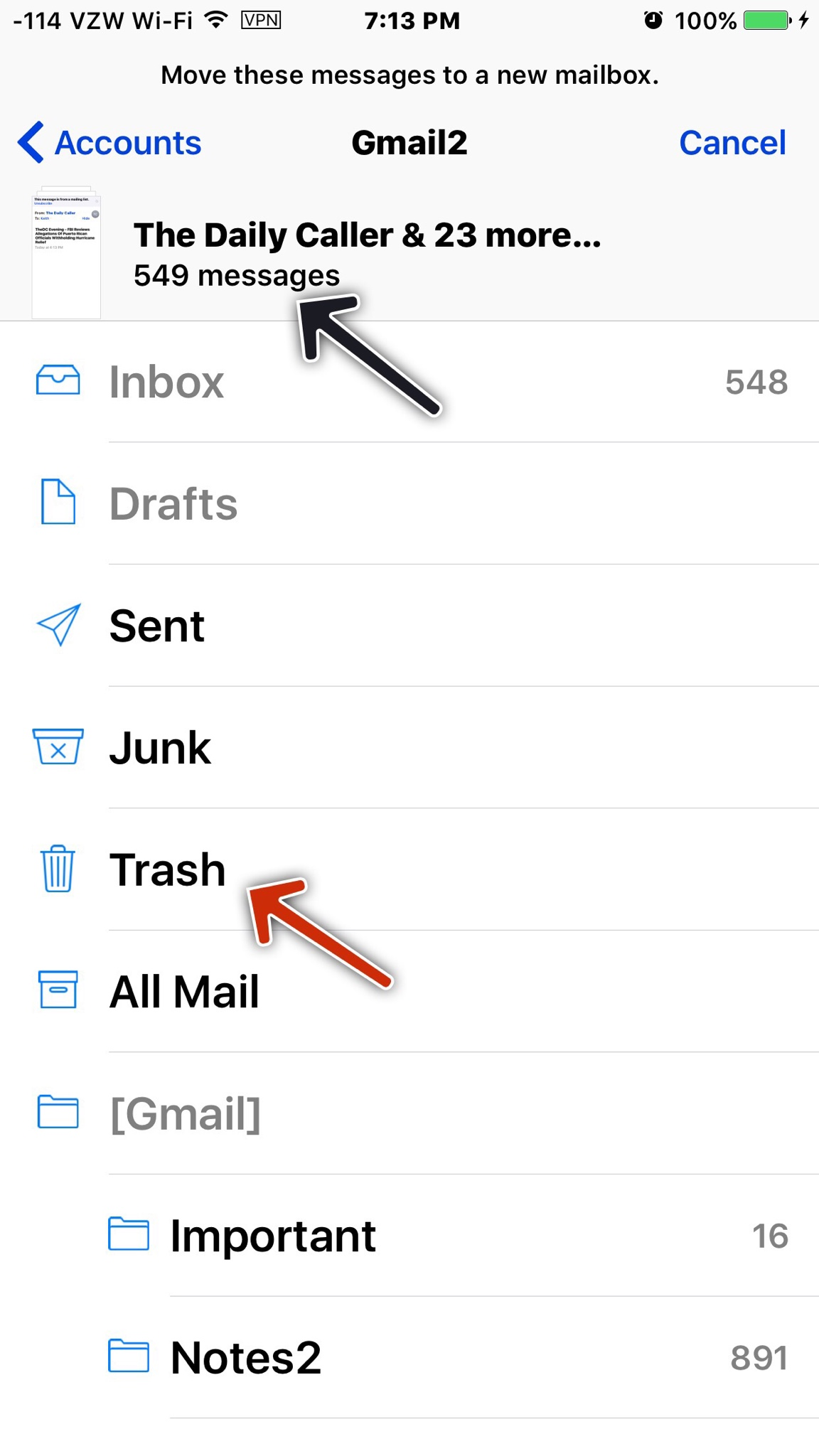 how to delete all trash emails on telstra webmail