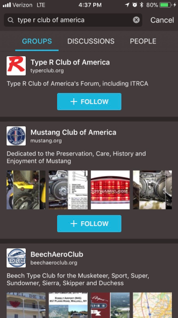 How To Setup Tapatalk for Type R Forums - Type R Club of America