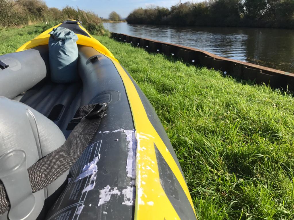Inflatable kayak - puncture repair in seam??? - The UK