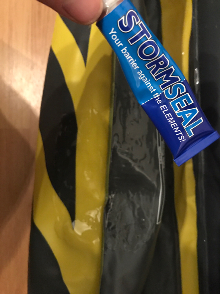 Inflatable kayak - puncture repair in seam??? - The UK