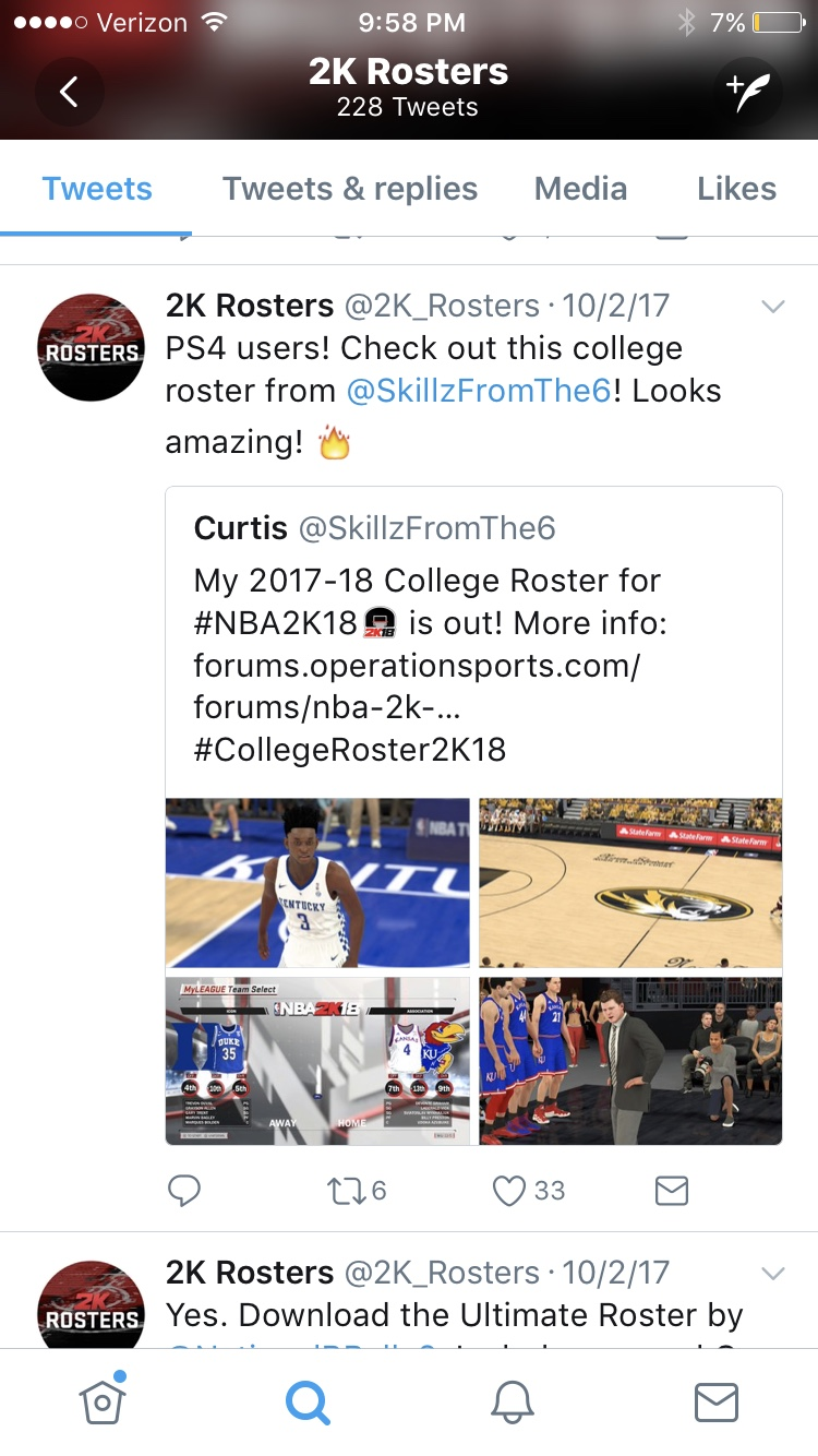NCAA 2k18 roster for Xbox One- updated on 2k share 11/15
