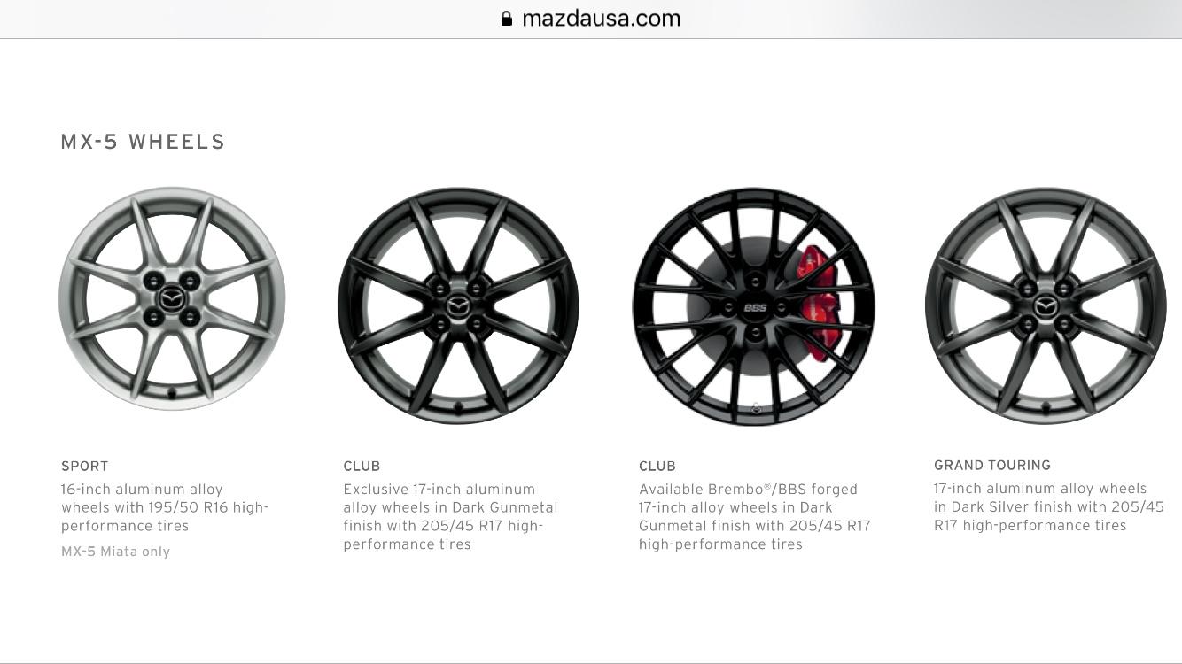 Smaller Wheels for Snow Tires? (RF Club) - MX-5 Miata Forum