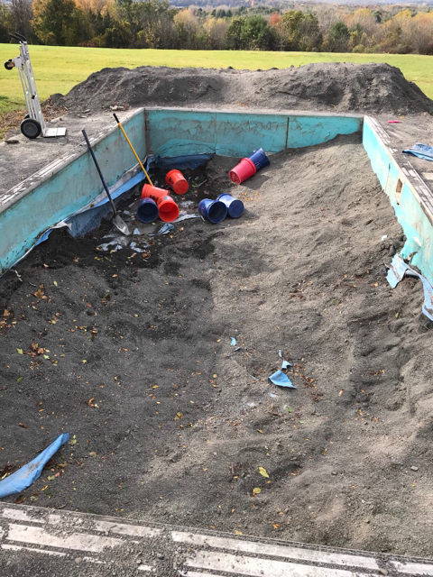 Advice on re digging out filled in pool   Trouble Free Pool