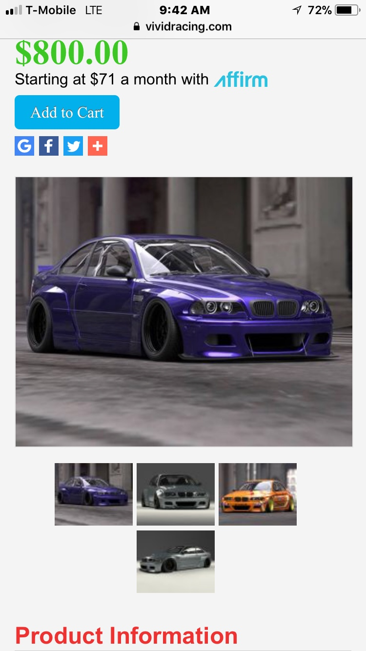 Are There Any Body Kits For My 4 Door 323i Bimmerfest Bmw Forum
