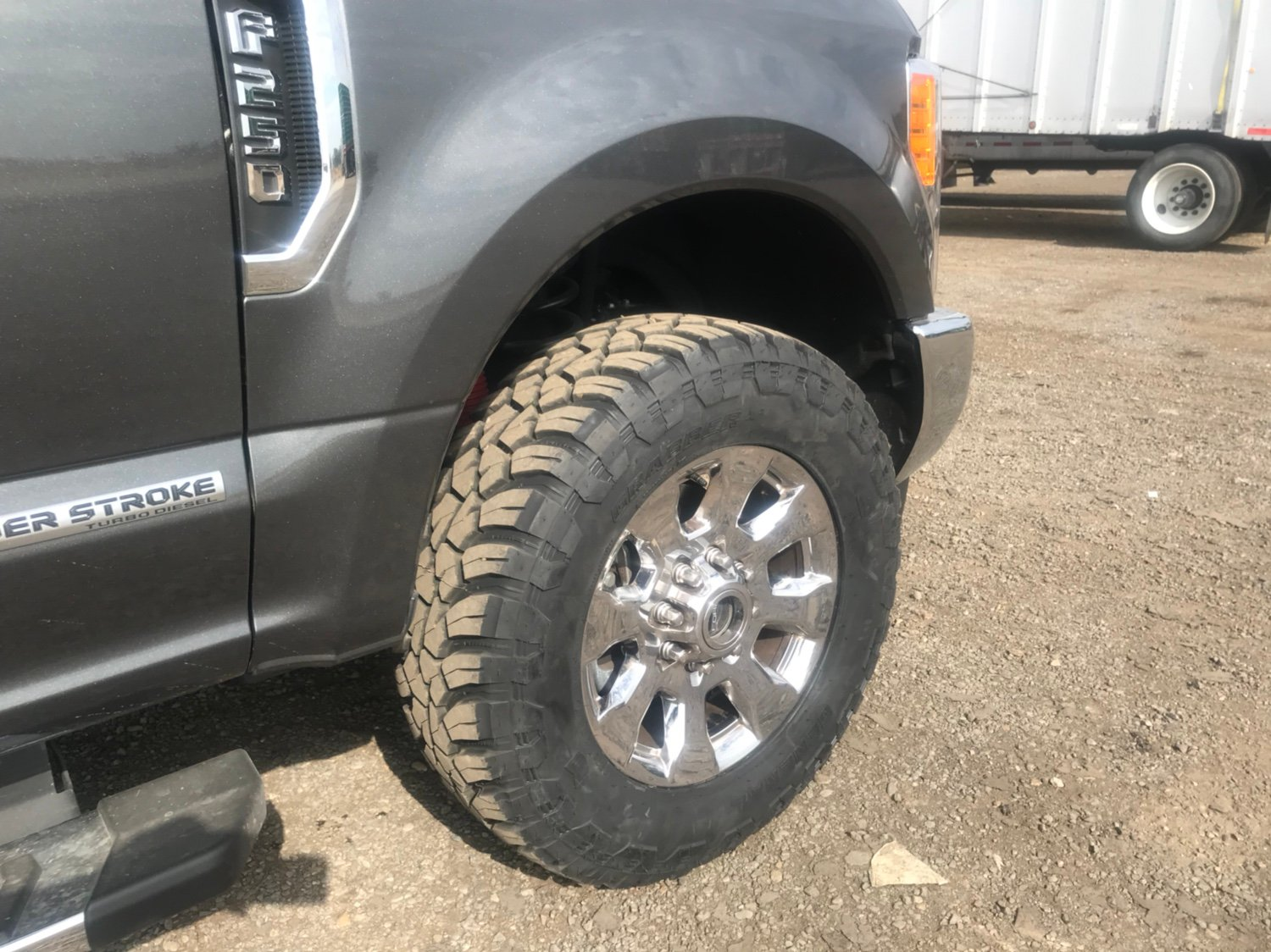 tires 295 wheels factory 65 general trail larger powerstroke f250 65r20 ford grabber x3 height running forum diesel