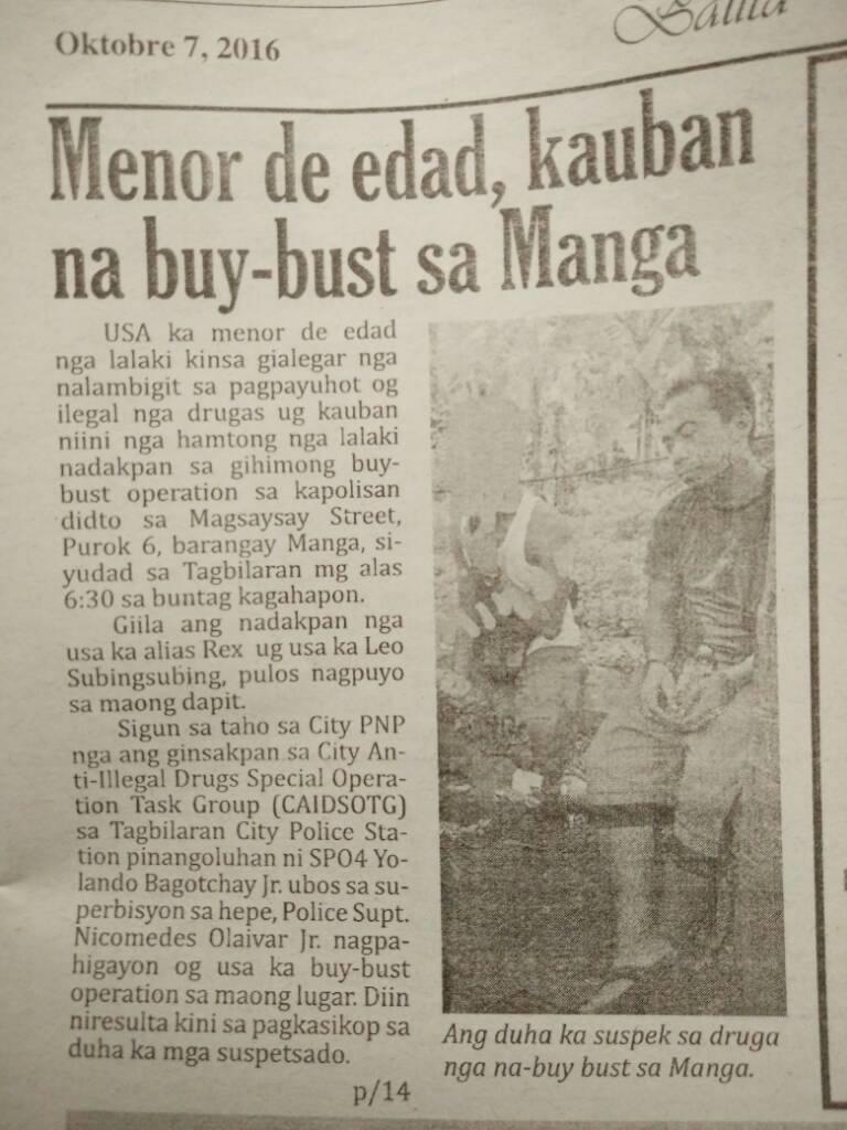5709e02d6c63de207a5e21583bbe4bb7 - Minor In Tagbilaran Drug Buy-bust - Bohol News Archive
