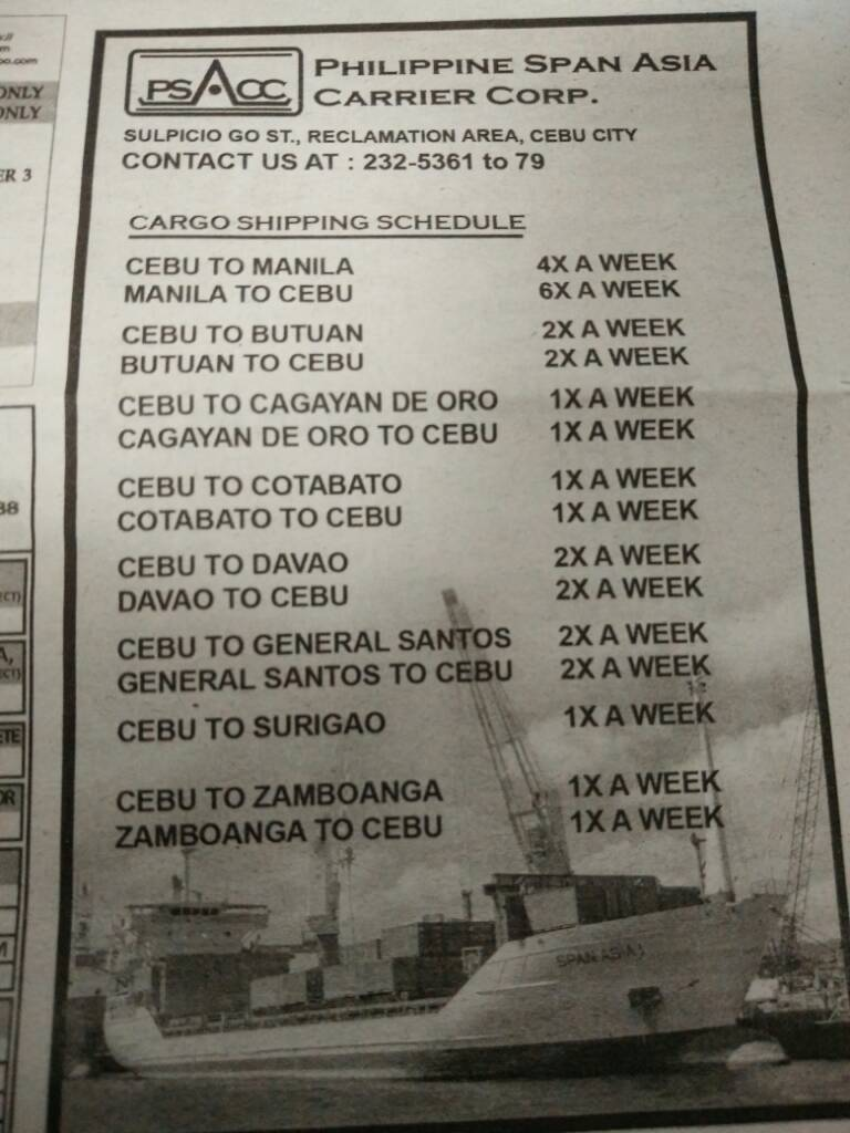 e9fe6482f135eccc8ed2ed6127b5c0ab - Philippine Pan Asia Cargo Shipping Schedule - Travel and Tours
