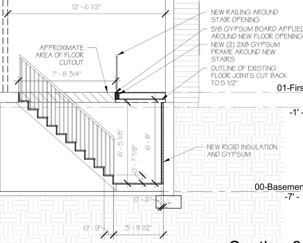New Basement Staircase With Landing Carpentry Diy Chatroom Home Is It Possible Electrical Improvement Forum I Already Have The Stringer Measured And Cut Out Just Need To Trim Bottom Top