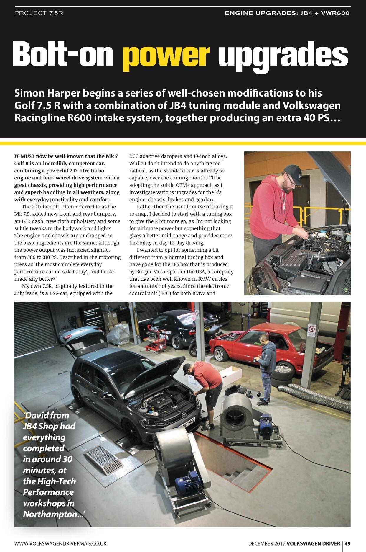 Jb4 any problems - Modifying your Golf R MK7 - VWROC - VW R