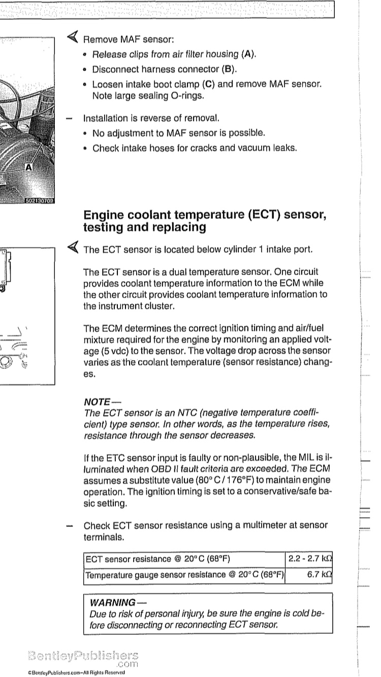 M62 temp sensor faulty? - Bimmerfest - BMW Forums