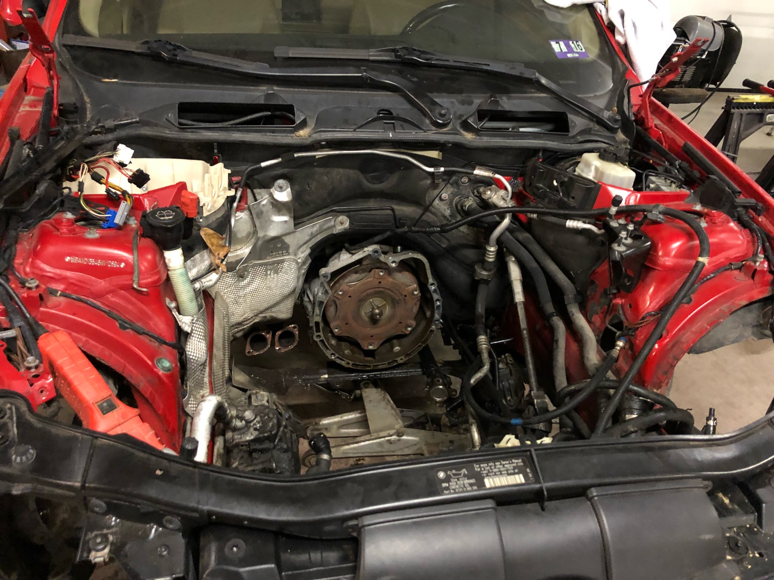 e46 325i engine removal
