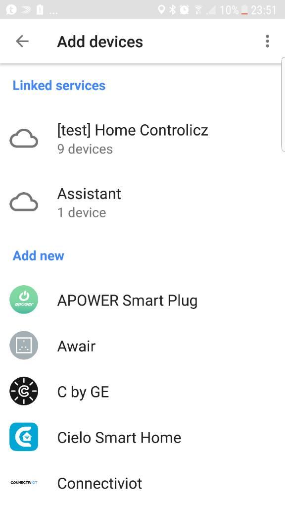 google home add device