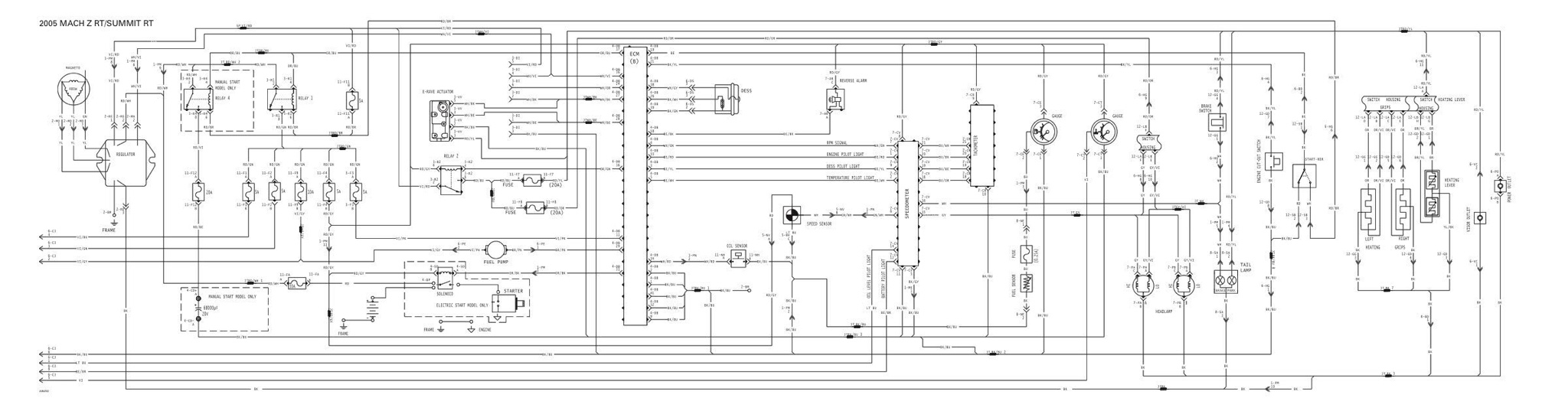 Wiring Diagram 2006 Mach Z 1998 Ski Doo 1000 Sdi Rt And Mxz Models Rh Dootalk