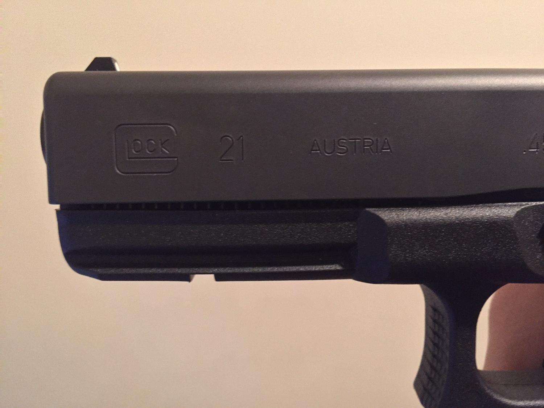 Glock 21 slide to frame gap