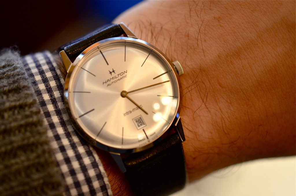 78b2b7c6486 ... relatively cheap watch recommendation. 42mm Hamilton Intra-magic seems  like it would fit the bill nicely. (Not my photo
