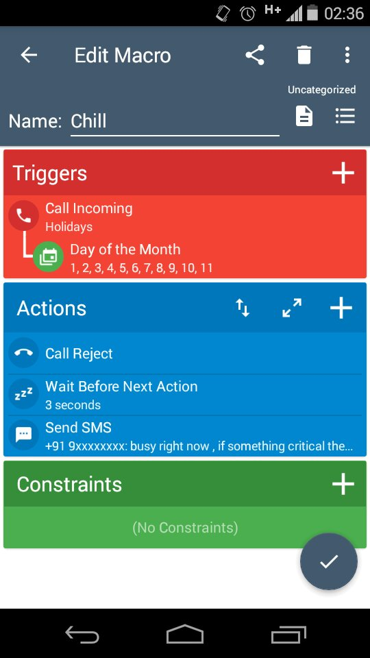 Problem: configure the Trigger