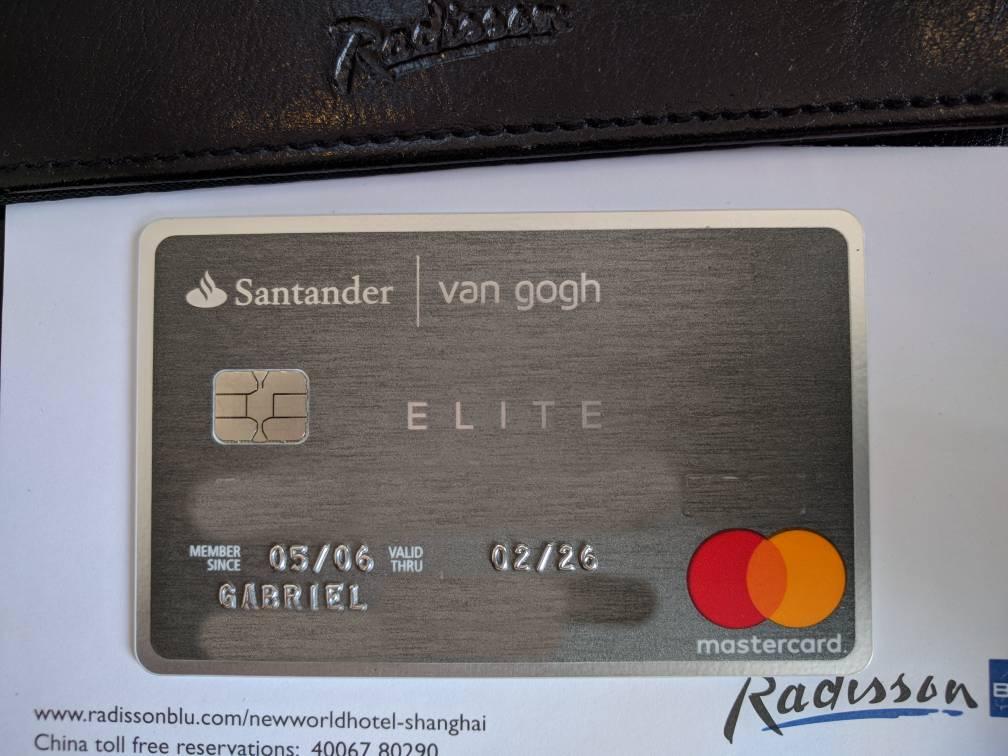 Cartão de crédito Santander Van Gogh / Select Elite