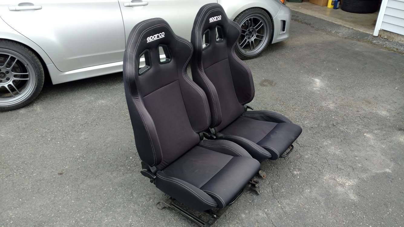 FS: (For Sale) (PA) Sparco R100 seats with black wrx wagon
