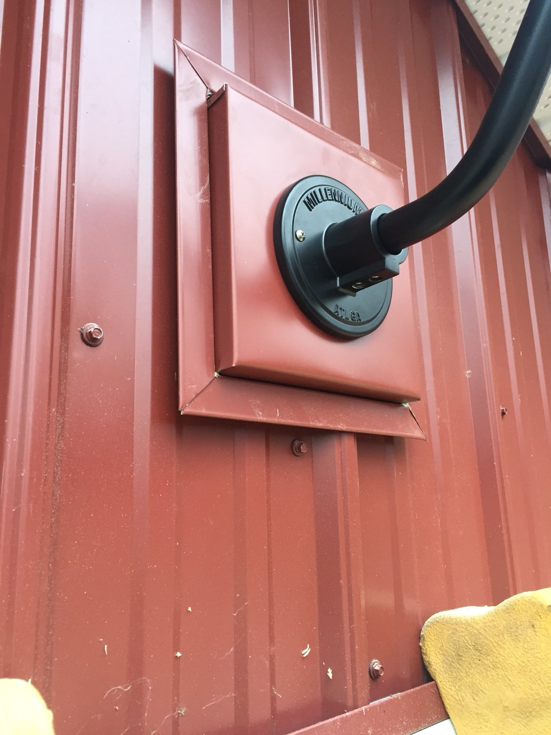 Mounting Lights Or Corrugated Metal Siding Green Tractor Talk