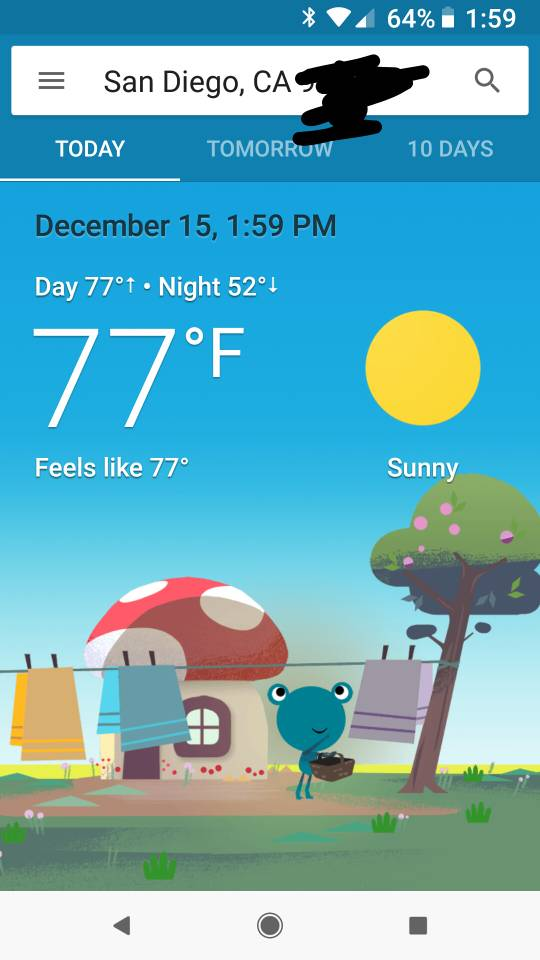 Probably a dumb question (Google weather frog) - Android