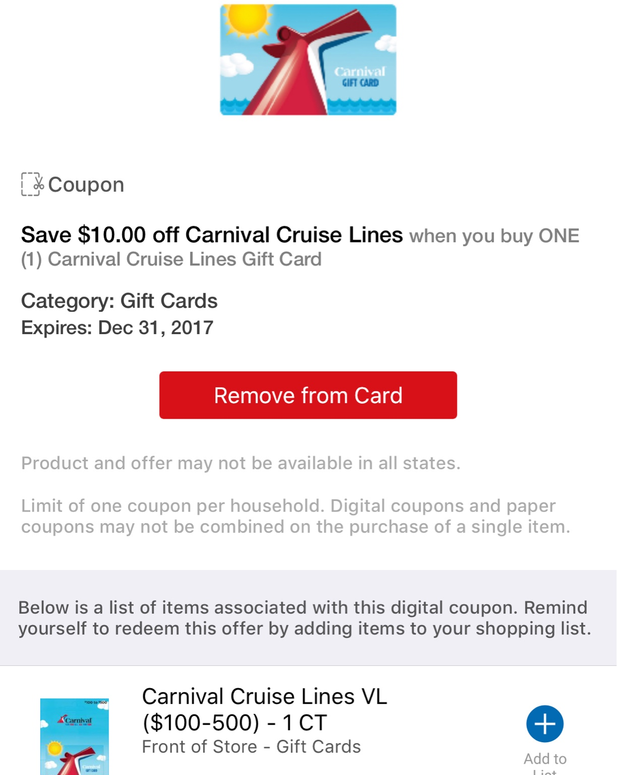 Carnival Cruise Gift Card Promo Gift Ftempo