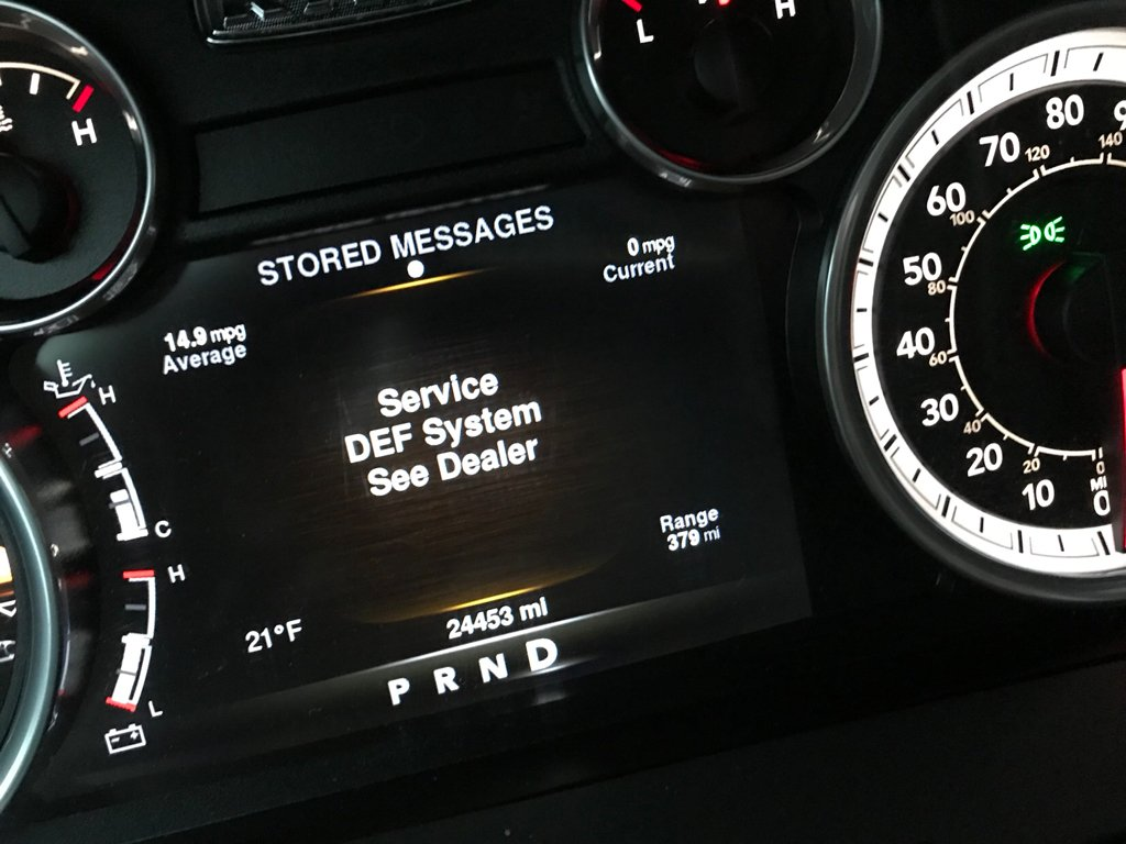 Service DEF System See Dealer message  - Dodge Cummins