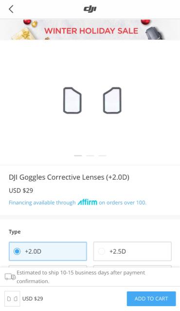 DJI Goggles Corrective Lenses | DJI Mavic Drone Forum