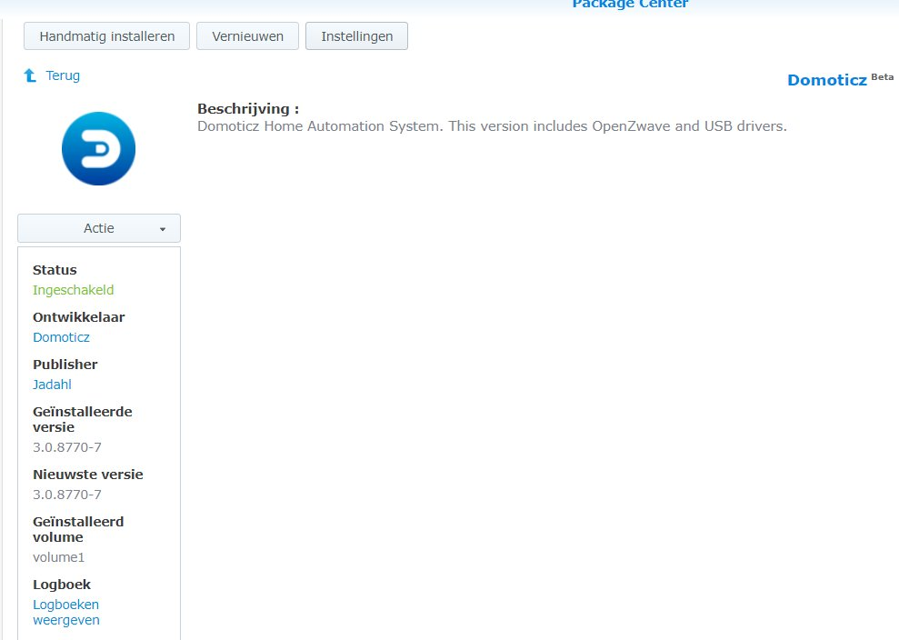 How to install Domoticz on a Synology NAS - Page 13 - Domoticz