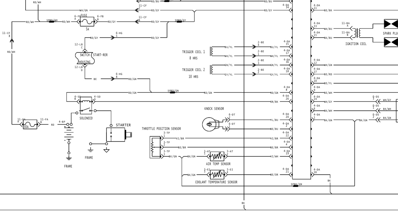 Wire Diagram Dootalk Trusted Wiring Diagrams 2001 Ski Doo Touring Anyone Have A For 07 800 Rev Chassis Performance 2003