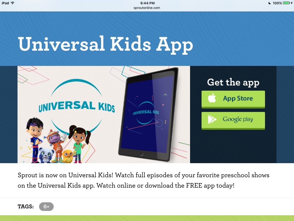 Universal Kids (formerly Sprout) (TALKBACK) | Anime Superhero Forum