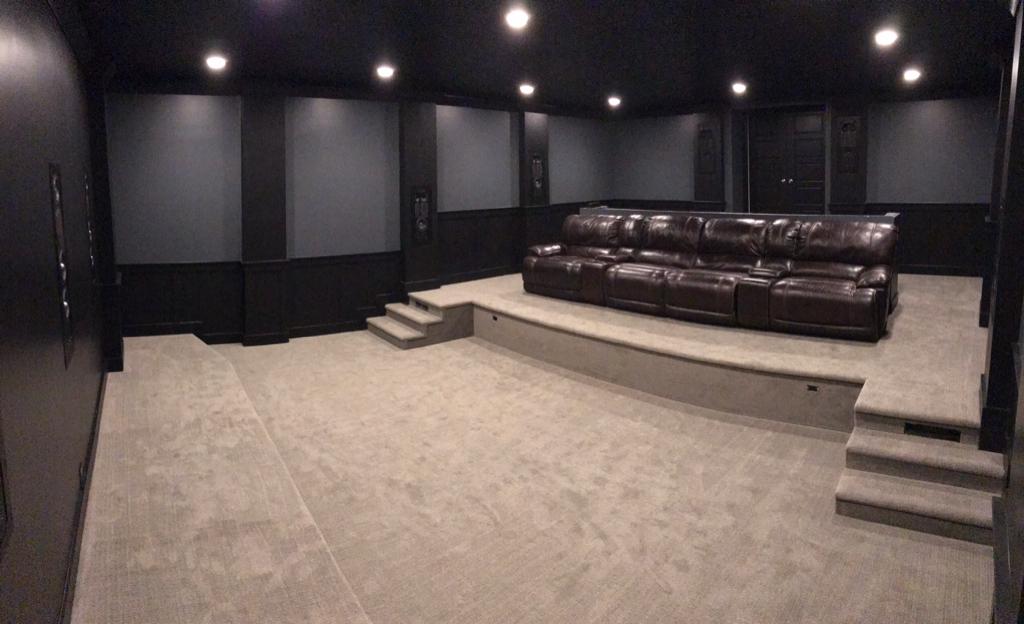 Theater Design Build Under Suspended Slab Garage Page 8